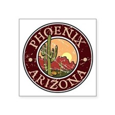 "Unique Arizona Square Sticker 3"" x 3"""