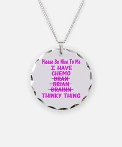 Cute Chemo Necklace Circle Charm