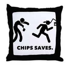 Chips Throw Pillow