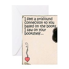 The Books on Your Bookshelf Greeting Cards