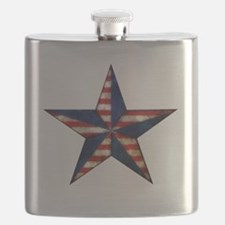 Patriotic Star Flask