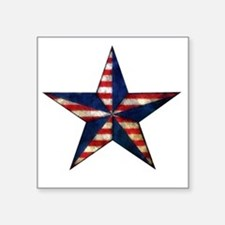 "Patriotic Star Square Sticker 3"" x 3"""