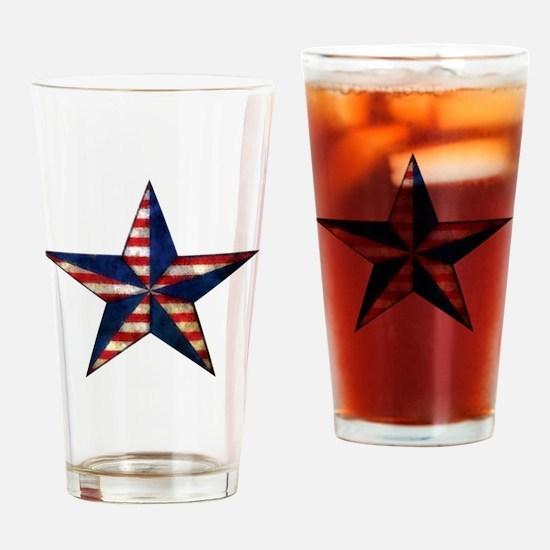 Patriotic Star Drinking Glass