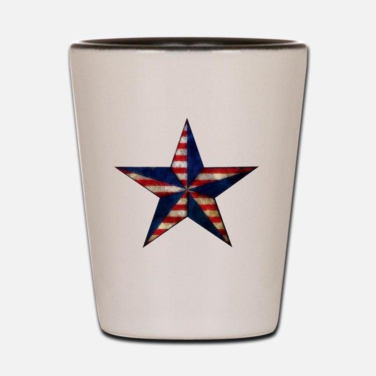 Patriotic Star Shot Glass
