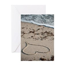 Beach Valentine Surf Greeting Cards