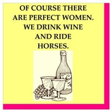 perfect women drink wine Poster