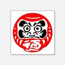 "Bodhidharma Square Sticker 3"" x 3"""