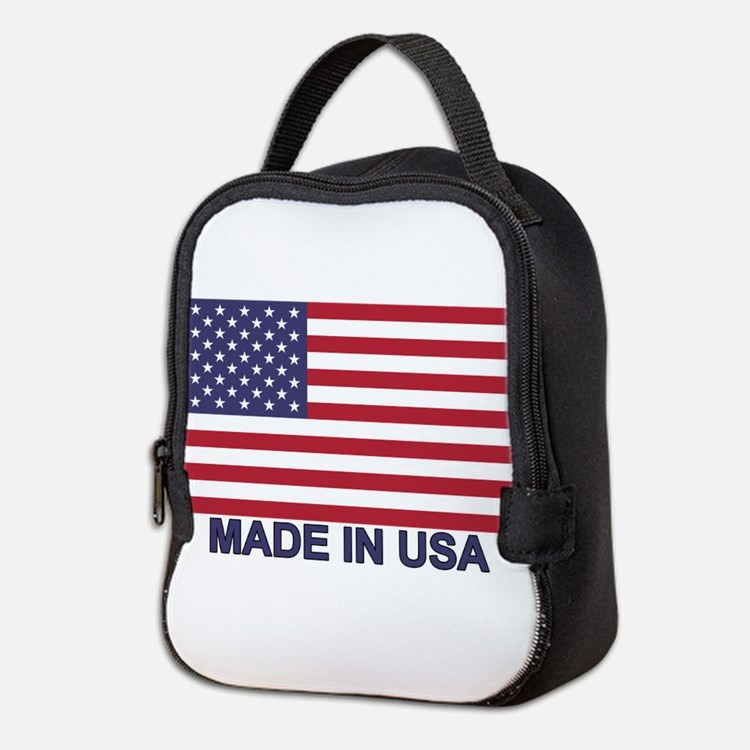 MADE IN USA (w/flag) Neoprene Lunch Bag