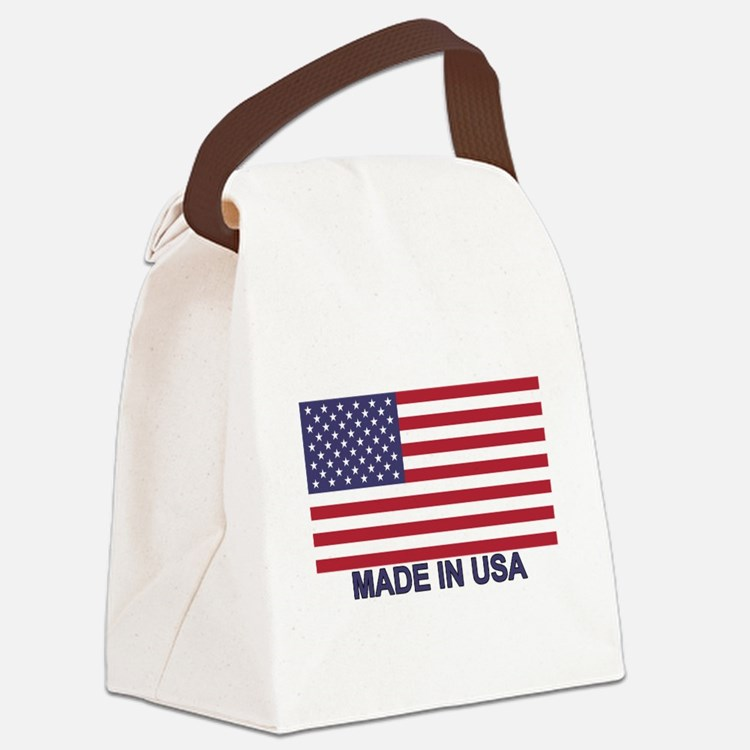 MADE IN USA (w/flag) Canvas Lunch Bag