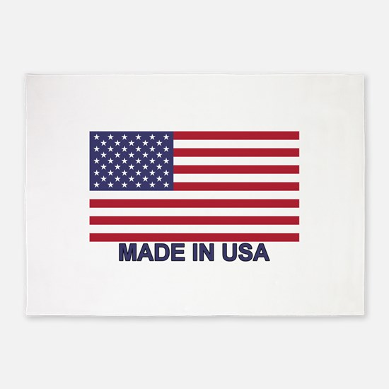 MADE IN USA (w/flag) 5'x7'Area Rug
