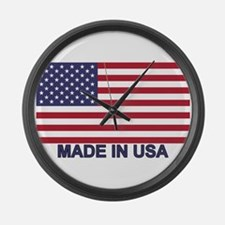 MADE IN USA (w/flag) Large Wall Clock