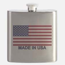 MADE IN USA (w/flag) Flask