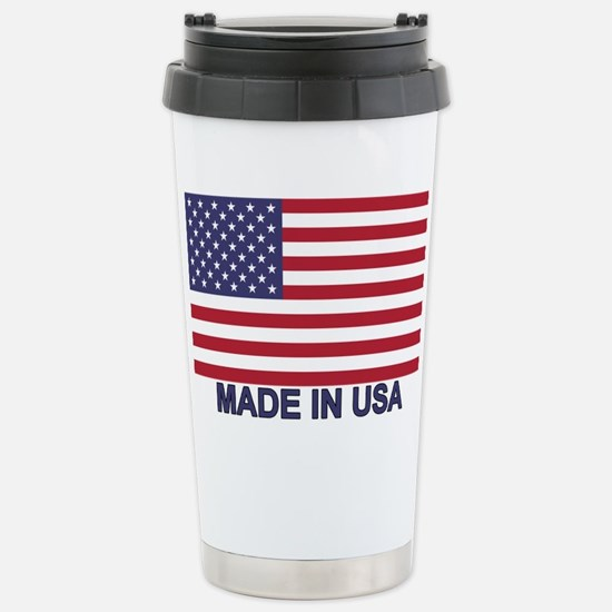 MADE IN USA (w/flag) Stainless Steel Travel Mug