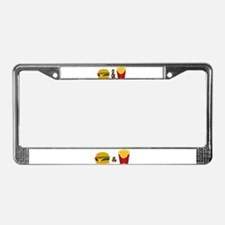 Burger and Fries License Plate Frame