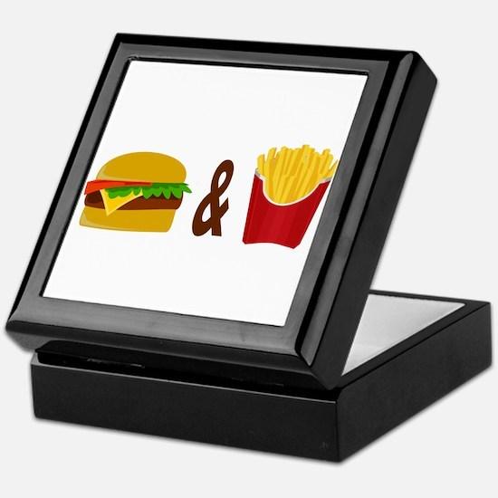 Burger and Fries Keepsake Box