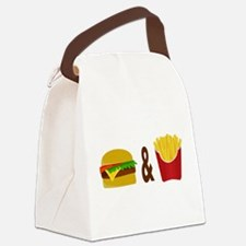Burger and Fries Canvas Lunch Bag