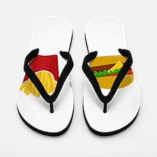 Burger and Fries Flip Flops