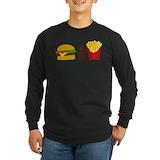 Burger and fries Long Sleeve Dark T-Shirts