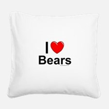 Bears Square Canvas Pillow