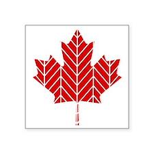 Chevron Maple Leaf Sticker