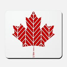 Chevron Maple Leaf Mousepad