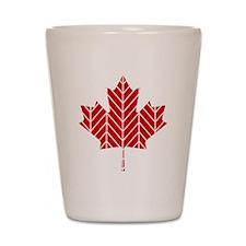 Chevron Maple Leaf Shot Glass