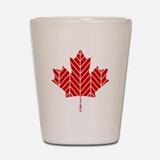 Chevron Maple Leaf Shot Glass