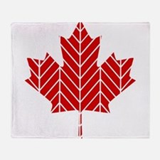 Chevron Maple Leaf Throw Blanket