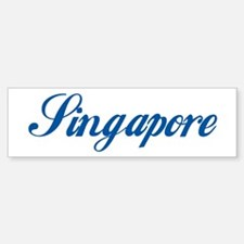 Singapore (cursive) Bumper Bumper Bumper Sticker