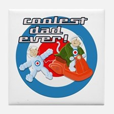 Space Cats Coolest Dad Ever Tile Coaster