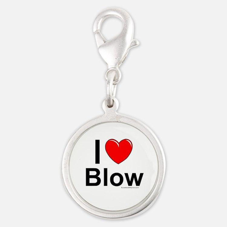 Blow Silver Round Charm