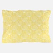 Abstract Dandelions on Pale Yellow Pillow Case