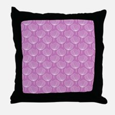 Abstract Dandelions on Lavender 1 Throw Pillow