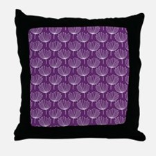 Abstract Dandelions on Dark Purple Throw Pillow