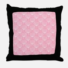 Abstract Dandelions on Pastel Pink Throw Pillow