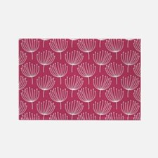 Abstract Dandelions on Rose Pink Rectangle Magnet