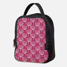 Abstract Dandelions on Rose Pin Neoprene Lunch Bag