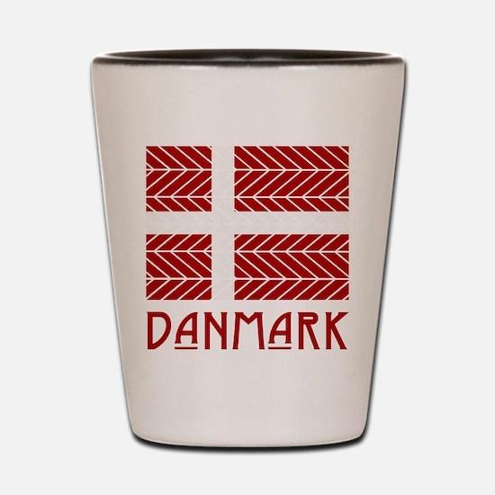 Chevron Danmark Shot Glass
