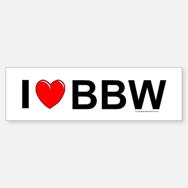 BBW Bumper Bumper Sticker