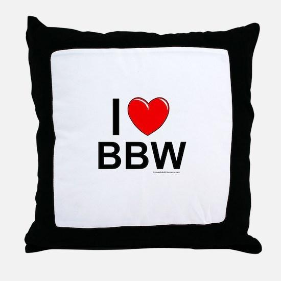 BBW Throw Pillow