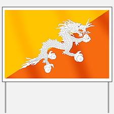 Flag of Bhutan Yard Sign