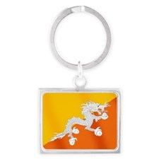 Flag of Bhutan Landscape Keychain