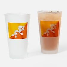 Flag of Bhutan Drinking Glass