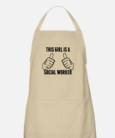 This Girl Is A Social Worker Apron