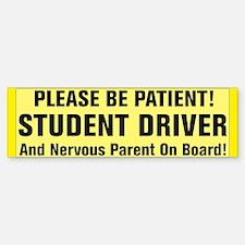 Student Driver And Nervous Parent Bumper Bumper Bumper Sticker