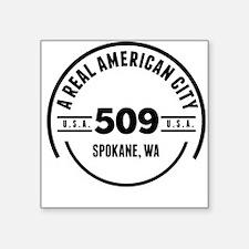 A Real American City Spokane WA Sticker