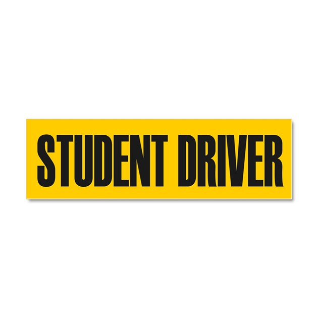 student driver car magnet 10 x 3 by admin cp15781845 With kitchen colors with white cabinets with student driver sticker