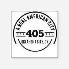 A Real American City Oklahoma City OK Sticker