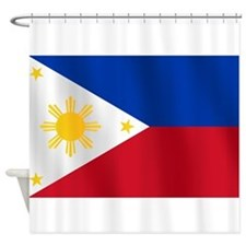 Philippines Flag Shower Curtain