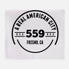 A Real American City Fresno CA Throw Blanket